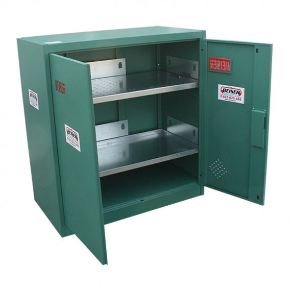 Green phytosanitary and safety cabinet in kit form - 1000 x 930 x 500 mm - short model