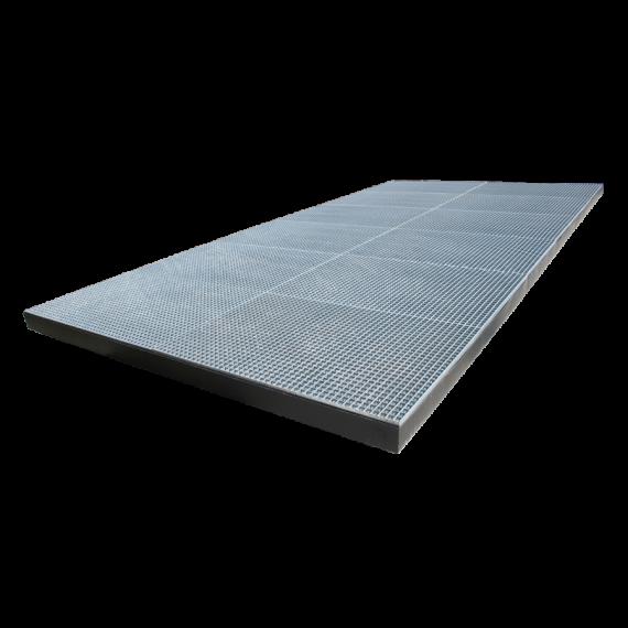 Tray spray, 10 x 4 x 0.15 m (LxWxh) - capacity: 6000 Litres