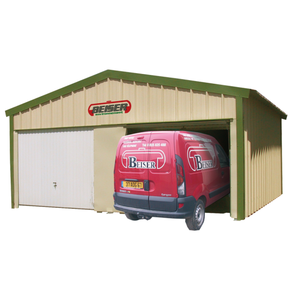 Double 2-wall garage in kit form