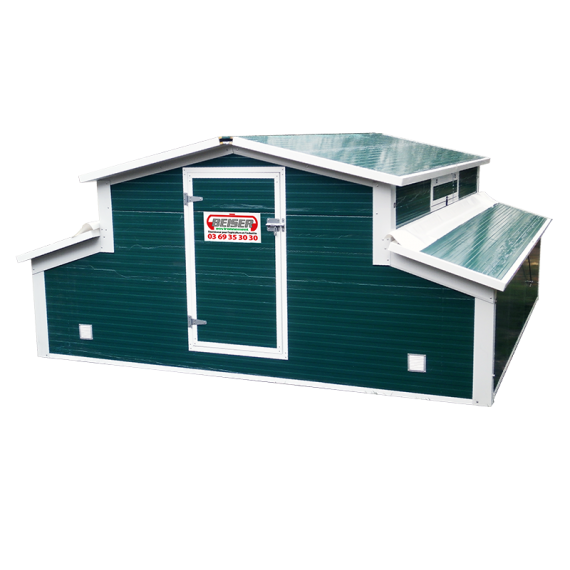 Hen 'Chicken coop building mobile kit with hydraulic lift 45 m2