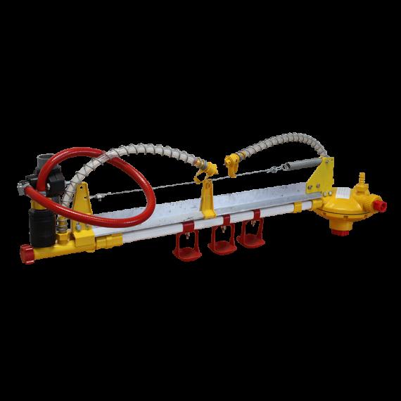 Ligne d'abreuvoir complète avec pipette pour bâtiment poulailler mobile 30 m2