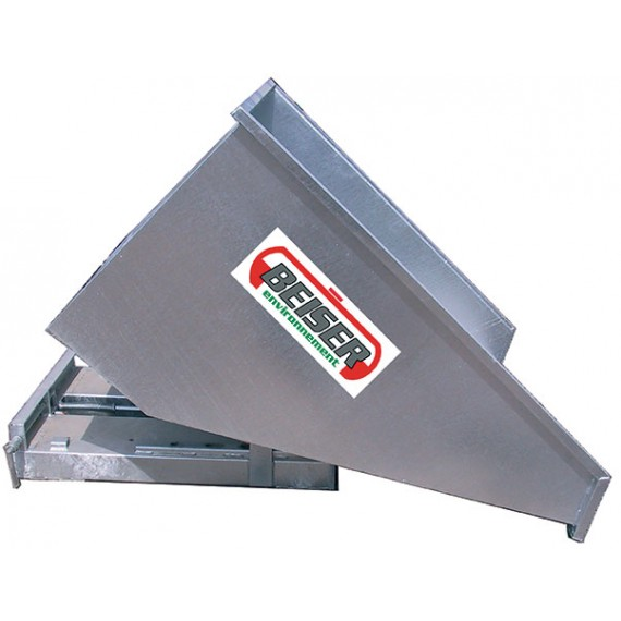Articulated tipping skip - Galvanised - 1000L