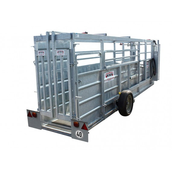 Galvanised working chute with hydraulic lifting - 8.5m