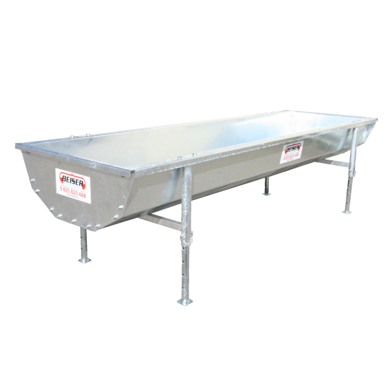 Galvanized livestock trough with adjustable feet 600 liters