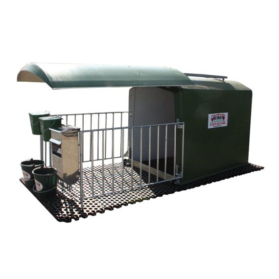 """""""Prestige"""" 2-calf insulated with sliding roof + full duckboard (cage + park)"""