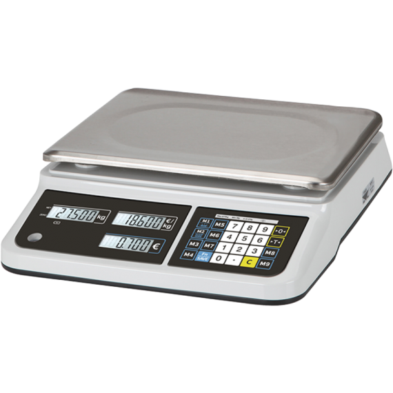 Commercial scales without receipt - 15kg/5g (Legal Metrology)