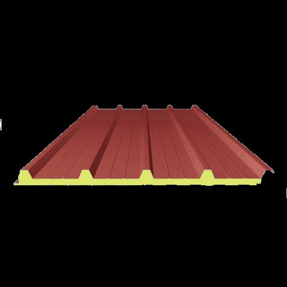 Panneau SANDWICH de TOITURE ROUGE RAL 3009, 6 m 4-250-40