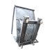 Benne basculante galva articulée sur roulettes 1000 litres