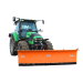 3-position snow plough on wheels and springs - Global view