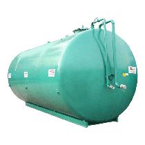 Doppelwandige Stickstoffanlage aus Stahl NN, 70 000 l Ø 2500 ohne Pumpe