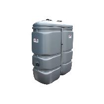 Geruchloser doppelwandiger PEHD-Tank für Treib-/Brennstoff, 1000 Liter - GRAU