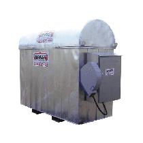 Verzinkte industrielle platzsparende 1600 l-Tankanlage mit Aufwickler für 8 m Schlauch