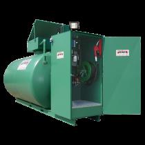Doppelwandige 12000 L Diesel-Tankanlage aus Stahl, Neuste Norm 2. Generation