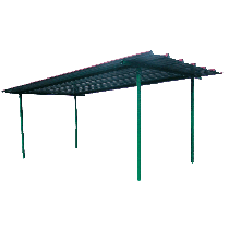 Dach für industrielle Diesel-Treibstoff-Tankanlage 4000 Liter