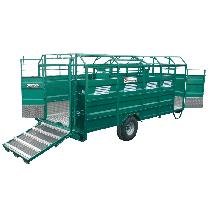 STAHL-Viehtransporter mit Aluminiumboden, Länge 6,50 m, keine Optionen
