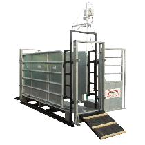 Teleskoprahmen für Klauenwaschanlage mit Faltbare Zugangsrampen und Barrieren