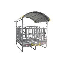 Gesichert Viereckraufe mit Fressgitter, 2 x 3 m, 14 Plätze