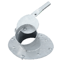 Verschoben ausgang + 1m Fallrohr (Ø150 mm) für würfelförmig Polyestersilos