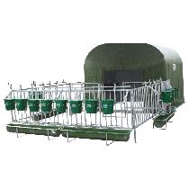 Kälberhütte 12 bis 16 Kälber und Kunststoffrost komplett