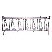Selbstfangfressgitter für Kälber 11 Plätze, 5 m