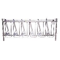 Selbstfangfressgitter für Kälber 8 Plätze, 4 m