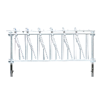 Selbstfangfressgitter für Ziegen 6 Plätze, 2 m