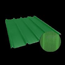 Trapezblech 45-333-1000, 0,60stel, Reseda-Grün perforiert, 5 m