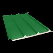 Isoliertes Sandwich-Trapezblech 45-333-1000 100 mm, Reseda-Grün RAL6011, 7 m