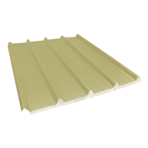 Isoliertes Trapezblech 33-250-1000 60 mm, Sandgelb RAL1015, 2,55 m