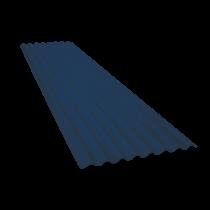 Wellblech 15 Wellen, Schieferblau RAL5008, Stärke 0,60, 4 m