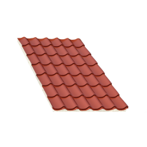 Isoliertes Terrakotta Ziegelblechelement, Stärke 60 mm, 5,5 m