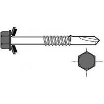 Lange Selbstbohrschraube für Metallstruktur, 6,3x125, Schieferblau RAL5008, 100 Stück