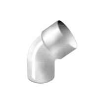 Downpipe elbow, 45°, Ø 100, thickness 3.2 mm