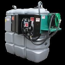 Doppelwandige Tankstation aus HDPE geruchlos 1 500 L mit Sicherheitsschrank - Modell Komfort +