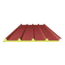 Dach-Sandwichplatte rot 3009 - 3 m, 4-250-40