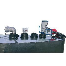 Entleerungsgarnitur Tank VET 700 und 1000 l mit 24V-Pumpe