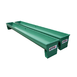 Metall-Futtertrog auf Füßen 4 m, Ø 800 mm