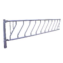 Freier Zugang mit Schräggitter 8 Plätze, 4 m