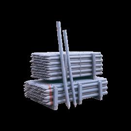Recycelter PVC-Zaunpflock Ø 100 mm 2.5 m