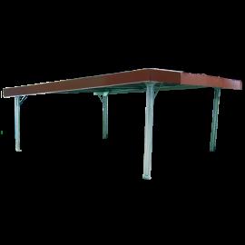 Einfacher Unterstand im Bausatz 5 x 5 m, mit Vordach