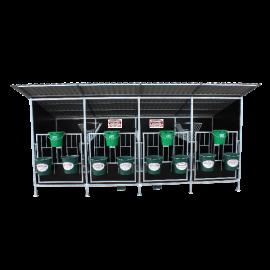 Kälberbox mit Dach (4 Kälber Modell)