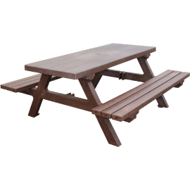 Picknicktisch aus Recyceltem plastik (2m)