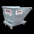 Beiser Environnement - Benne basculante galva articulée sur roulettes 300 litres - Vue de face