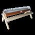Beiser Environnement - Mangeoire en tôle laquée avec perchoir en bois 120 cm - Vue d'ensemble