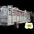 Automatisierter fangflur 10,50 m mit hydraulischem Achsen-Hebesystem und Wiegekäfig
