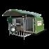 Einzel-Kälberhütte aus Polyester «4 sterne» Mit Schiebedach und kunststoffrost (Hütte)