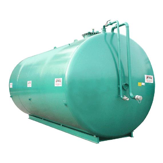 Doppelwandige Stickstoffanlage aus Stahl NN, 50 000 l Ø 2500 ohne Pumpe