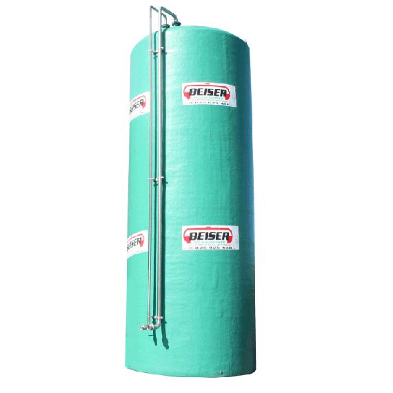 Vertikaler Doppelwandiger Stickstofftank Polyester 50 000 L