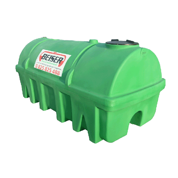 Grüner PEHD-Tank 2750 l, Dichte 1300 kg/m3 (EP)