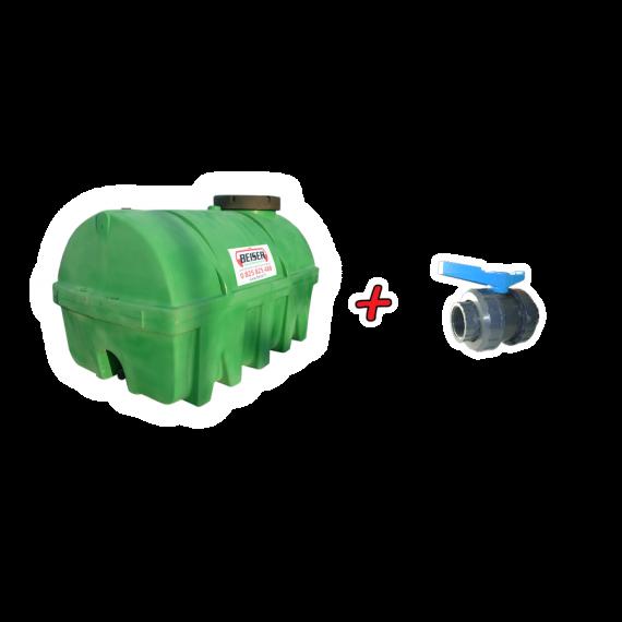 Grüner PEHD-Tank 6500 L + 2'' Kunststoff Ventill